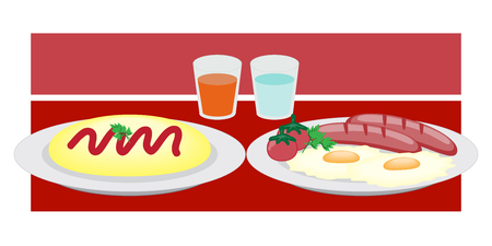 french toast: Breakfast on a plate eggs bacon lettuce tomato a cup