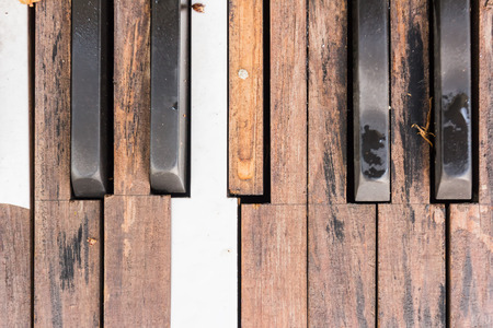 old piano: Broken Old Piano Keys