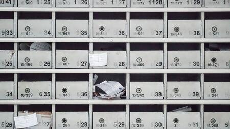 lockers: Row of Lockers one is open