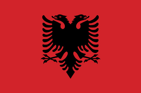 sovereign: Sovereign state flag of country of Albania in official colors