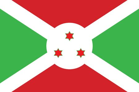 illustrated: An Illustrated Drawing of the flag of Burundi