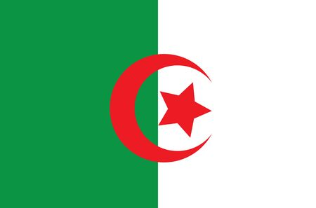 original and simple Algeria flag isolated vector in official colors and Proportion Correctly Illustration