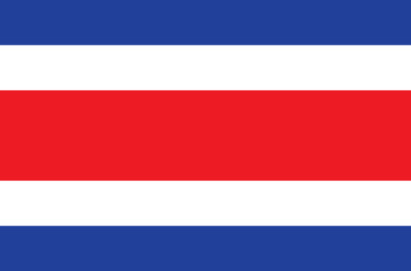 sovereign: Sovereign state flag of country of Costa Rica in official colors.
