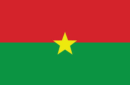 An Illustrated Drawing of the flag of Burkina Faso