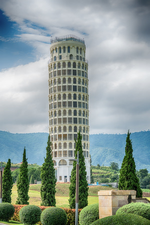 HDR,The Leaning Tower of Pisa , the Tower of Pisa ,Thailand.