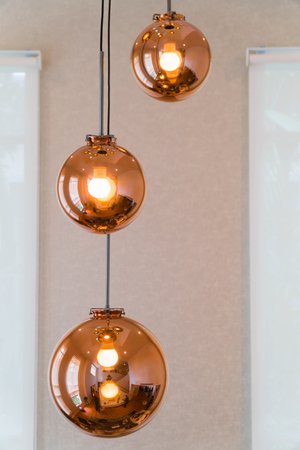 Lighting ball hanging from the ceiling. Stock Photo - 92340835