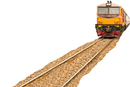 Trains with full passengers are going through to take the tourist to attractions. 版權商用圖片 - 110518381
