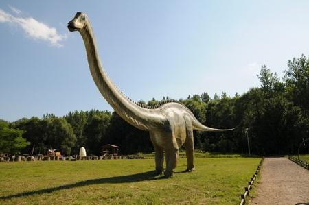 dinosaur in dino-park photo