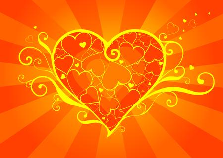 Vector heart design. Valentine series.