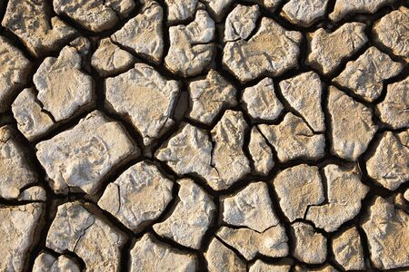 deformation: Wide cracks in the dried up ground Stock Photo