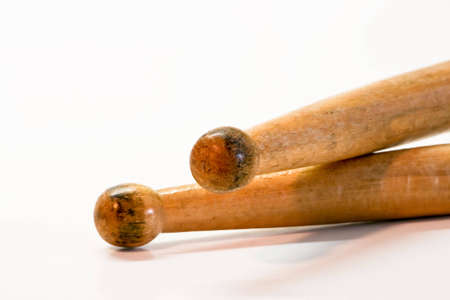 A closeup of a wood pair of drum sticks Stock Photo - 2809178