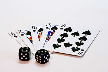 A Royal Flush and 7 on the dice photo