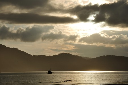 a beautiful sunrise in koh chang photo