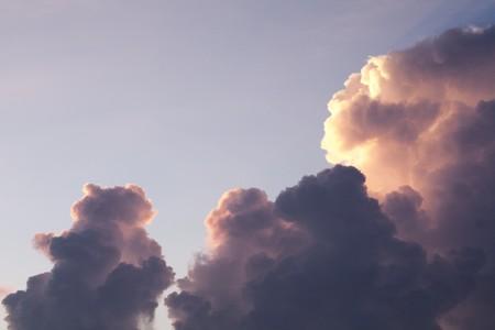 sunup: a beautiful cloud Stock Photo