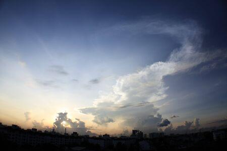 sunup: a beautiful sunrise in Bangkok