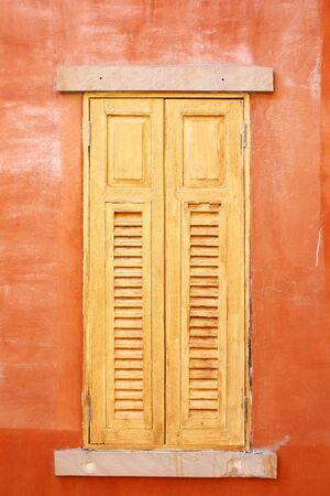 closed wooden windows in Italian style Stock Photo - 17106922