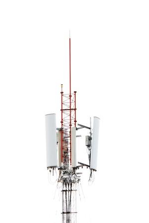 Telecommunications pole isolated photo