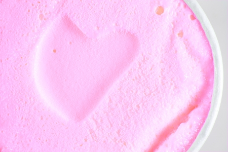 heart shape ice-cream texture photo