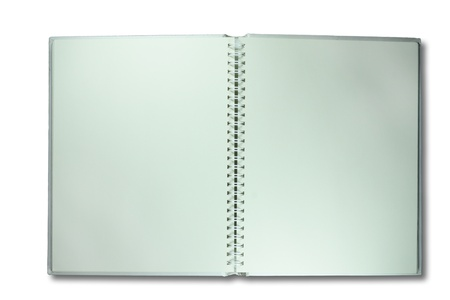 blank open ring notebook photo