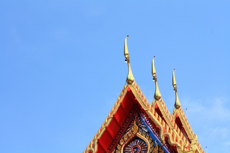Thai temple roof ornament photo
