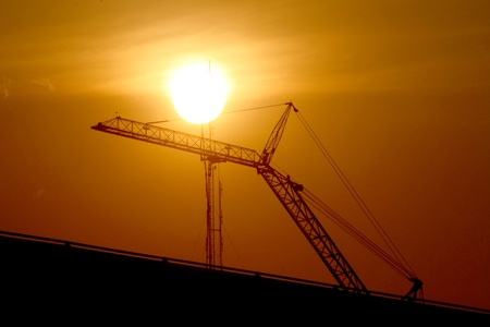 Construction crane silhouette Stock Photo - 17667267