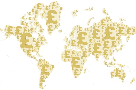 World map made with pound sign photo