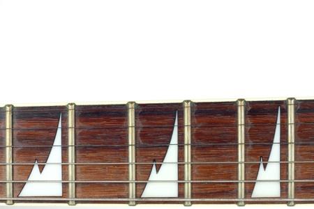 inlay: mahogany guitar fingerboard with shark tooth inlay