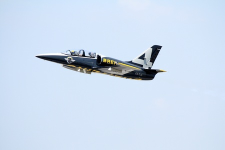 BANGKOK,THAILAND - MARCH 23: Breitling Jet Team Perform at Breitling Jet Team Thailand tour on March 3,2013 in Bangkok, Thailand. The event was to celebrate Royal Thai Air Force Day.