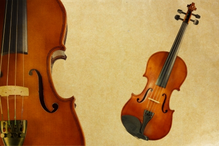 violin on old rusty texture background photo