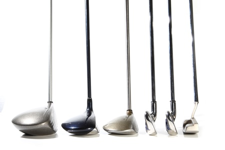 golf clubs isolated on white background Stock Photo - 20309336