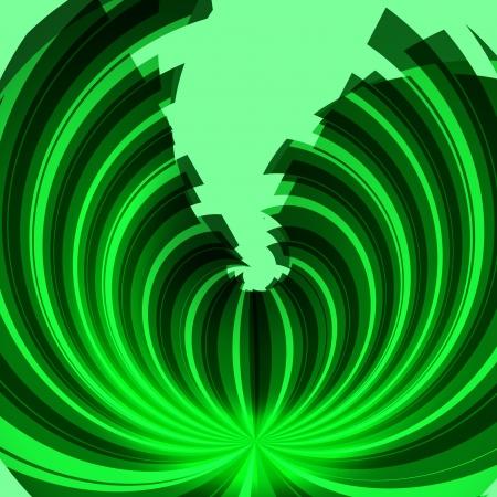 geschwungene linie: gr�ne Kurve abstrakten Hintergrund