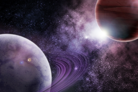 Planets in fantastic space  Elements of this image furnished by NASA Stock Photo