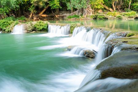 Jed Sao Noi Waterfall in Saraburi, Thailand