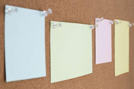 cork board: cork board with blank notes