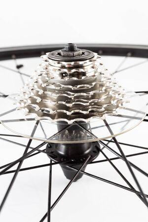 bicycle wheel hub with rear crank photo