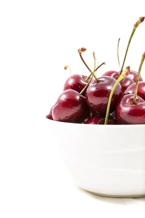 cherries isolated: Cherries isolated on white background Stock Photo