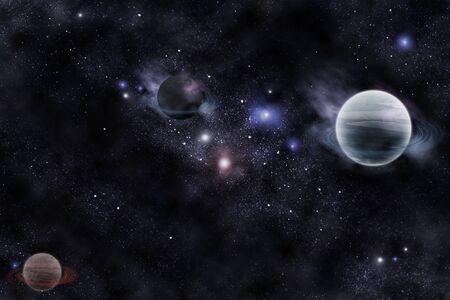 sistema: planetas en el espacio fant�stico