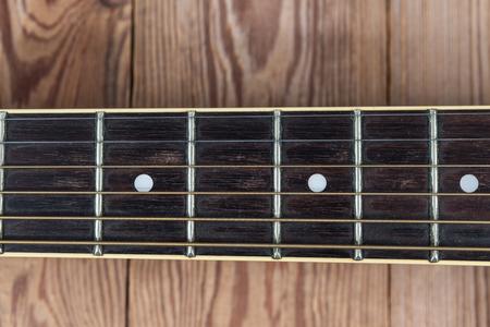 fingerboard: guitar fingerboard