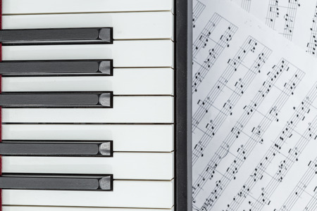 piano and music sheet Stock Photo