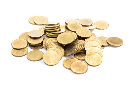gold coin isolated on white background Stock Photo