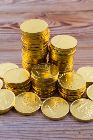 coin stack: gold coin stack