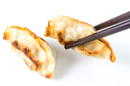Fresh Gyoza isolated on white background
