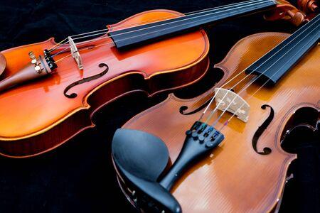 violin background: close-up violin