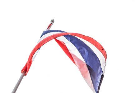 thai flag: thai flag isolated on white background Stock Photo