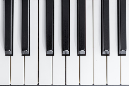 keyboard instrument: close-up electric piano