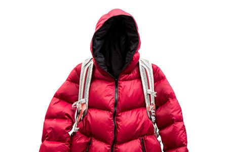 Backpacker tragen Daunenjacke