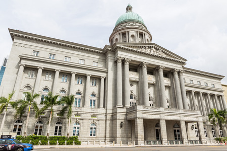 singapore: SINGAPORE - MARCH 2, 2015: Day scene of Singapore city hall. Singapore city hall is one of the most beautiful Classical style building in Singapore. Editorial