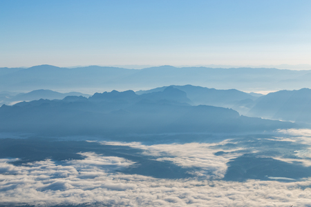 Sea of fog at Doi Luang Chiang Dao, Chiang Mai Province, Thailand