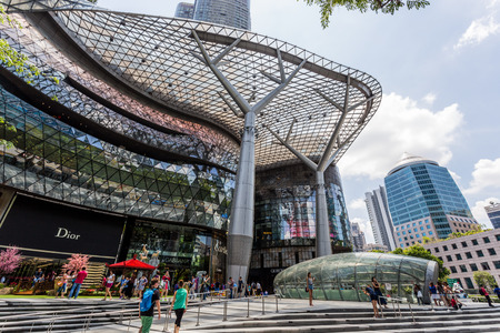 ion: SINGAPORE - FEBRUARY 28, 2015: Day scene of ION Orchard shopping mall on 28 February 2015.ION is one of famous shopping malls in Singapore.