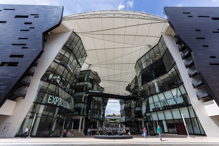 educational institution: SINGAPORE - MARCH 2, 2015: Interior of Lasalle College of the Arts, Singapore. Lasalle College of the Arts is an arts educational institution in Singapore. Editorial